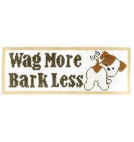 "Meredith ""Wag More Bark Less""<br /> 3.75"" x 10"""