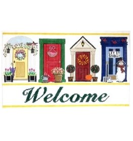 "Meredith Welcome Doors<br /> 8"" x 14"""