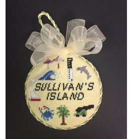"GD Designs Sullivan's Island SC ornament<br /> 4"" Round"