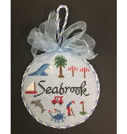 "GD Designs Seabrook SC ornament <br /> 4"" Round"