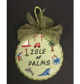 "GD Design Isle of Palm SC ornament<br /> 4"" Round"