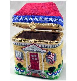 Julia 4th of July House hinged box