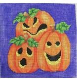 "All About Stitching Three Pumpkins<br /> 6"" x 6"""