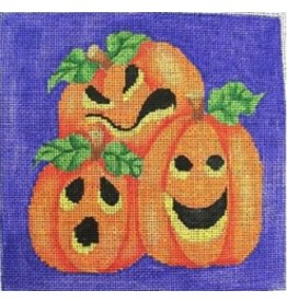 "All About Stitching Three Pumpkins<br /> 6"" x 6"""