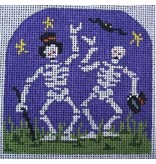 """All About Stitching Dancing Skeltons<br /> 3.5"""" x 3.5"""""""