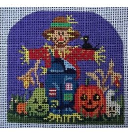 "All About Stitching Scarecrow<br /> 3.5"" x 3.5"""
