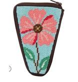 Alice Peterson Pink Flower Scissors Case