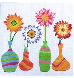 "Jean Smith Designs Floral Friends #2<br /> 14"" x 14"""