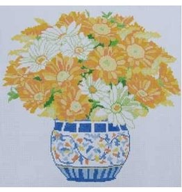 "Jean Smith Designs Daisy Bouquet<br /> 14"" x 14"""