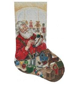 Susan Roberts Wood Carver Santa Stocking