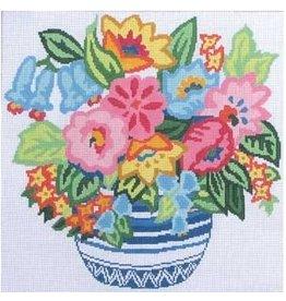 "Jean Smith Designs Flower Fantasy<br /> 14"" x 14"""