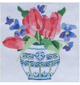 "Jean Smith Designs Spring Tulips<br /> 14"" x 14"""