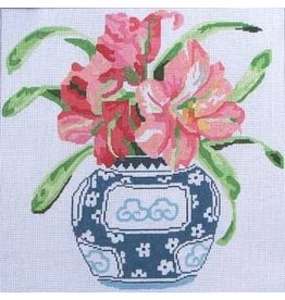 "Jean Smith Designs Another Blooming Amaryllis<br /> 14"" x 14"""
