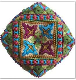 Ruth Schmuff Mother&#039;s Rocker Biscornu<br />w/backing fabric &amp; Stitch Guide<br />4.5&quot; x 4.5&quot;
