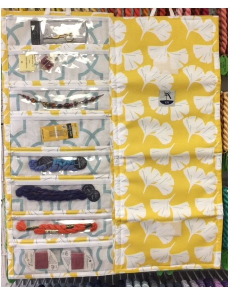 Bohicket Road Needlepoint Travel Carrier<br /> Yellow, Turquoise or Purple