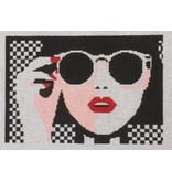 "Voila! Lady w/Sunglasses10.5"" x 7.5"""