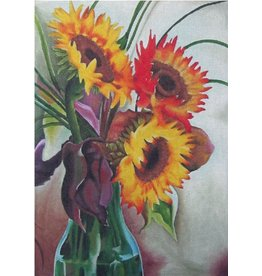 "Sundance Sunflower Vase14.5"" x 10"""
