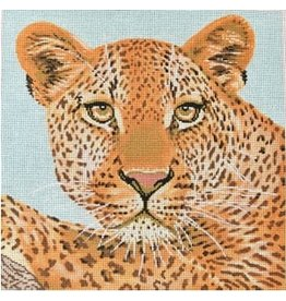 "Meredith Leopard<br /> 13"" x 13"""