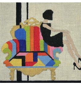 "Melissa Prince Chair and the Little Black Dress<br /> 6"" x 6"""