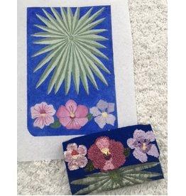 "BB Needlepoint Design Flower Purse<br /> 14"" x 9"""