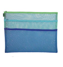 "Walker Dunham Triple Zip Case Multi Colored - Lavender/Fuschia/Pink<br /> 6"" x 9"""