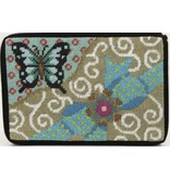 Alice Peterson Butterfly & Bow Cosmetic Purse