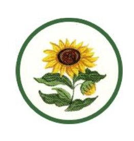 Fleur de Paris Yellow Jewelry Bag with Sunflower on Top - self finishing