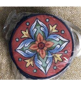 Fleur de Paris Dark Blue Jewelry Bag with Red & Blue motif