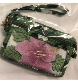Cheryl Schaeffer Large Flower - Pink - Wristlet - Self Finishing