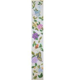"""Fleur de Paris Butterflies and Clematis Bell Pull<br /> 40"""" x 6"""""""