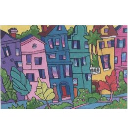 "Purple Palm Designs ""The Row"" <br /> Rainbow Row - Charleston<br /> 12"" x 18"""