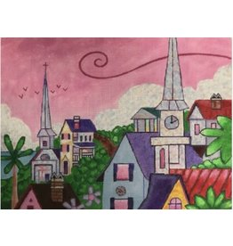 """Purple Palm Designs Holy City Rooftops<br /> 9"""" x 12"""""""