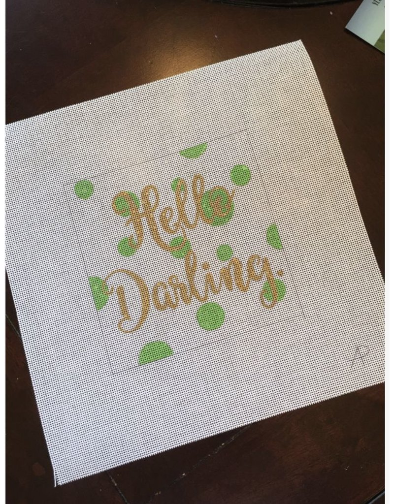 "A Poore Girl Paints ""Hello Darling"""