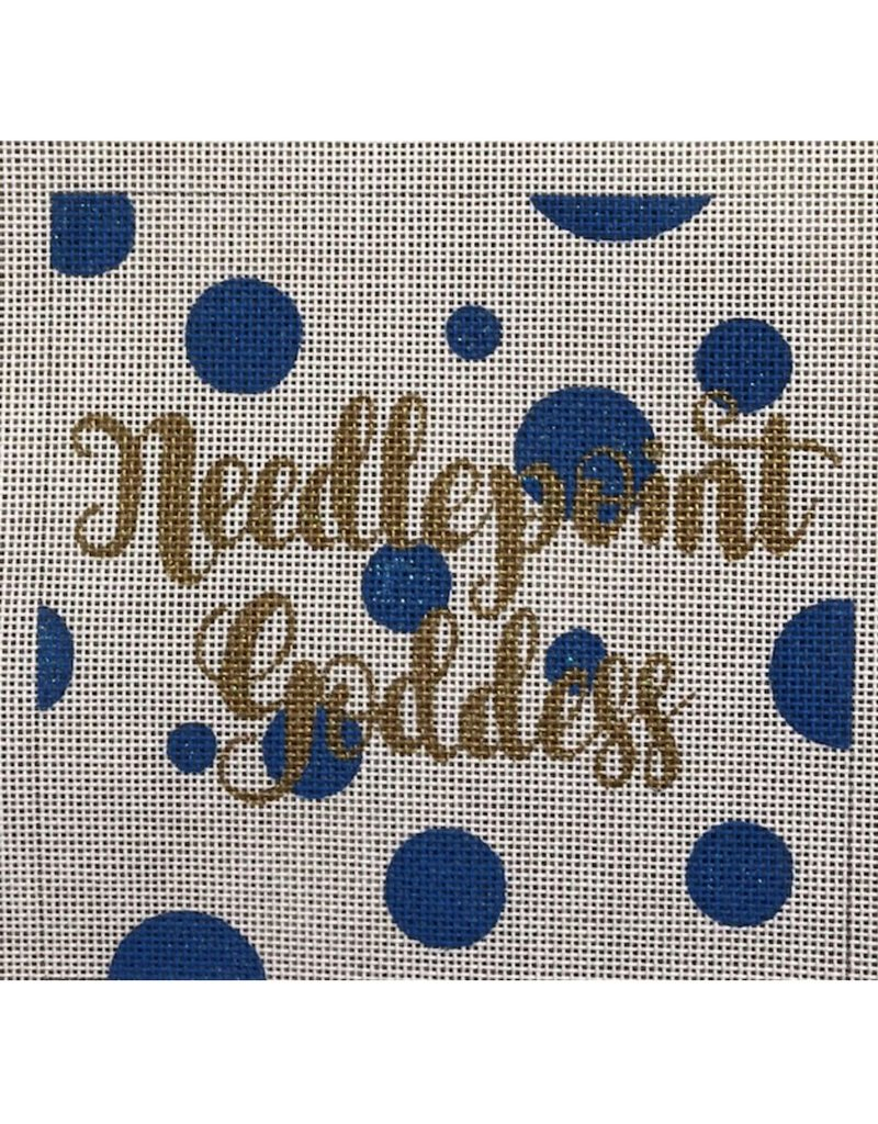 """A Poore Girl Paints """"Needlepoint Goddess""""<br /> 5.5"""" x 5.5"""""""