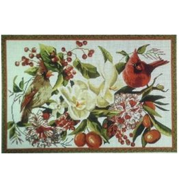 "Colors of Praise Cardinals and Magnolias<br /> 12"" x 18"""