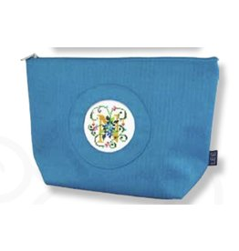 "Colonial Needle Small Silk Bag - Blue<br /> 9.5"" x 3"" x 6.5"""