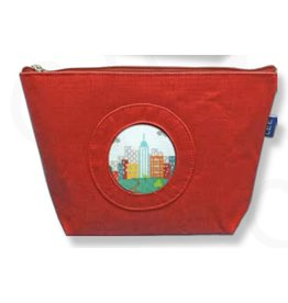 Colonial Needle Small Silk Purse  - Red <br />