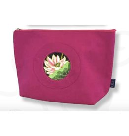 "Colonial Needle Small Silk Bag - Pink <br /> 9.5"" x 3"" x 6.5"""