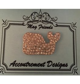 Accoutrement Designs Whale- clear stone- magnet