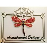 Accoutrement Designs Dragonfly- pink