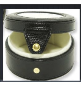 "Colonial Needle Gift Box / Black 4"" Round"