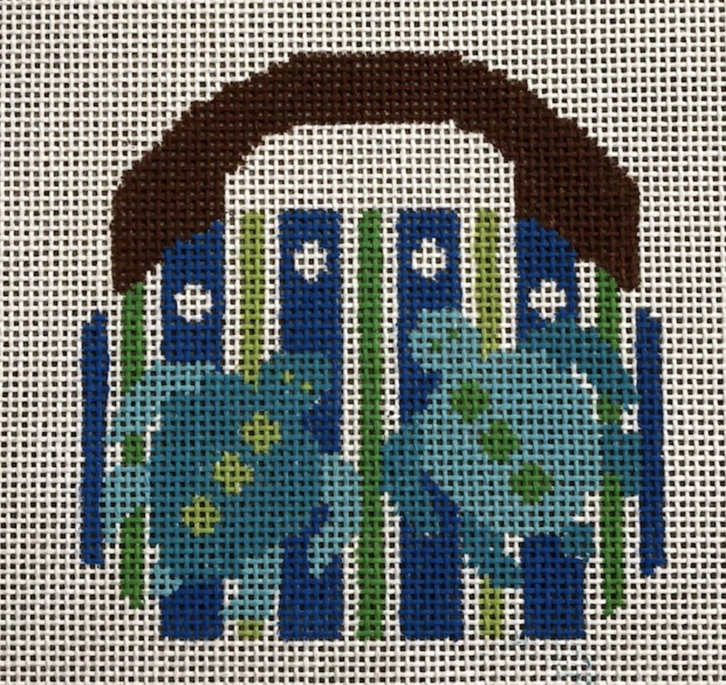 "2 Sisters Needlepoint Mini Bermuda Bag w/Turtles<br /> 4"" x 4"""