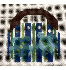 "2 Sisters Needlepoint Mini Bermuda Bag w/Turtles<br /> 4"" x 4"""