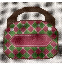 "2 Sisters Needlepoint Mini Bermuda Bag  <br /> 4"" x 4"""