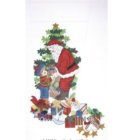 Alexa Santa stocking with little boy, puppy and toys