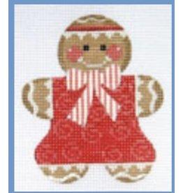 "David McCaskill Gingerbread Girl 3<br /> ornament<br /> 3"" x 3.25"""
