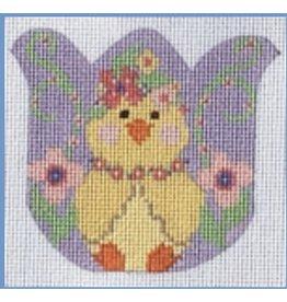 "Danji Chick Tulip - ornament<br /> 3.25"" x 3.25"""