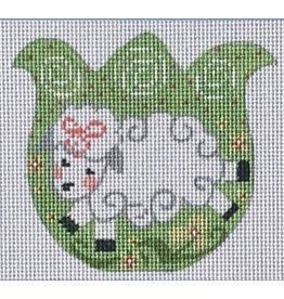 "Danji Lamb Tulip ornament<br /> 3.25"" x 3.25"""