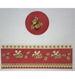 Funda Scully Christmas Bells on Red Hinged Box