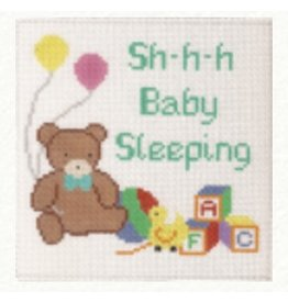 "Canvas Connection Teddy Bear - Baby Sleeping<br /> 6.5"" x 6"""